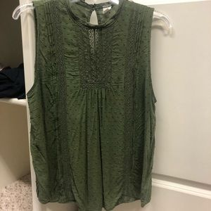 GAP Swiss Dot Olive Blouse